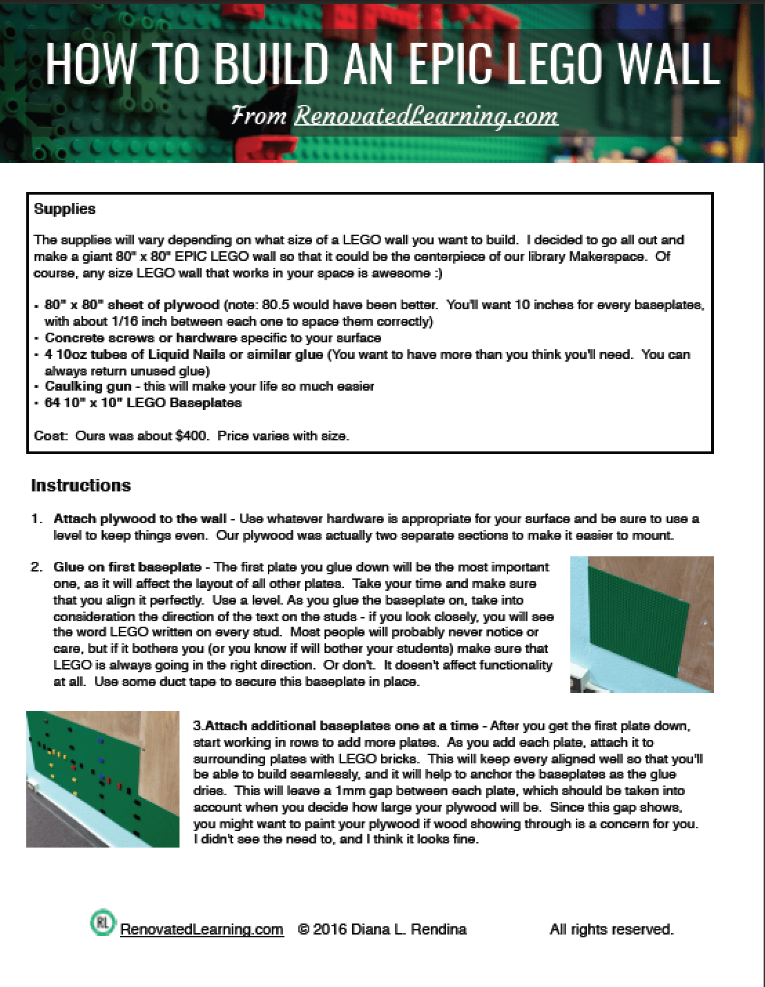 How To Build An Epic Lego Wall Renovated Learning X 10 3 Way Switch Wiring Diagram If Youre The Type Of Person Who Loves Print Instructions Out Ive Created A Printable Pdf Just For You