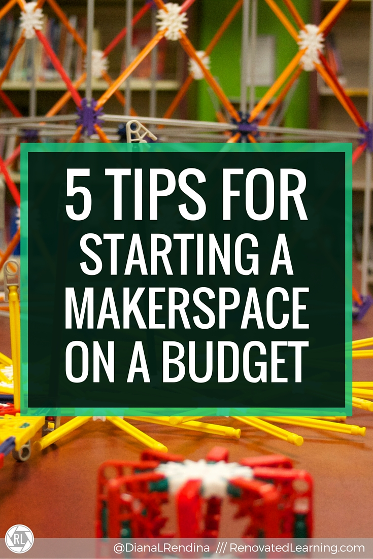 5 Tips for Starting a Makerspace on a Budget | This post links to my article for the ISTE Scanner.  In the article, I talk about my five tips for starting a makerspace on a budget, including cultivating a vision, organizing a supply drive, connecting with local businesses and utilizing DonorsChoose and grants.