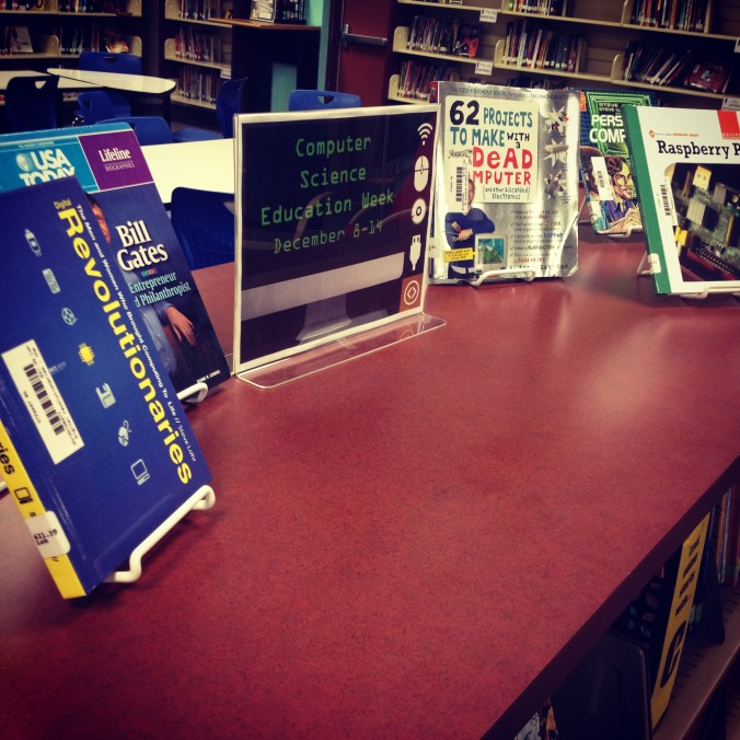 Our Computer Science Week book display