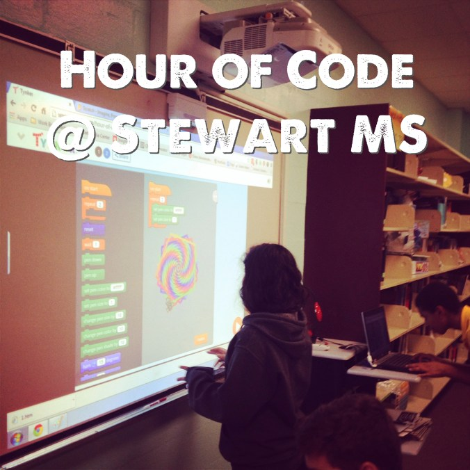Hour of code at Stewart MS