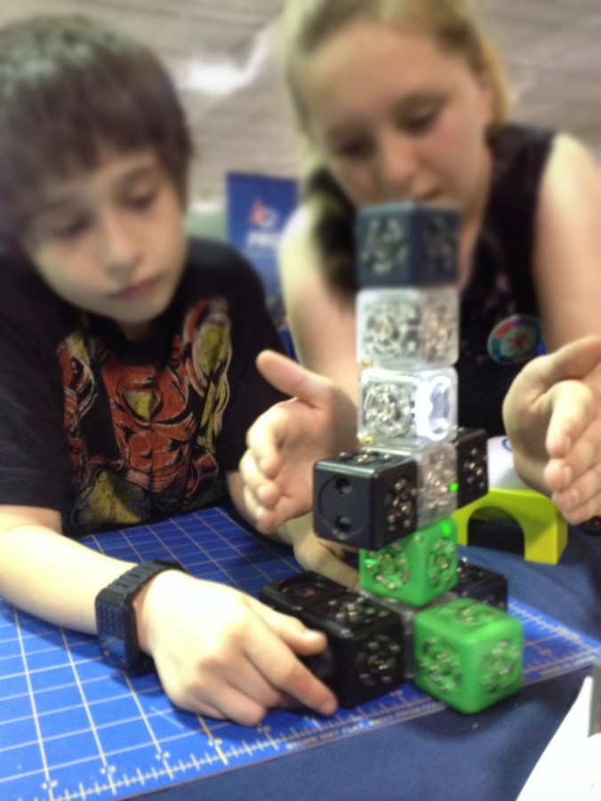 Cubelets makers at our booth | RenovatedLearning.com