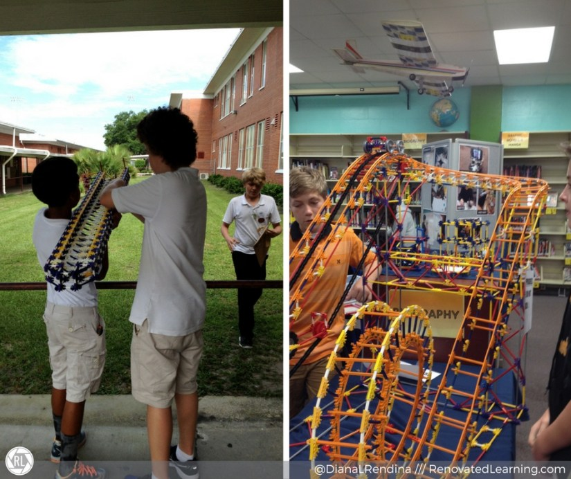 STEM Demonstrations: K'nex launcher and roller coaster