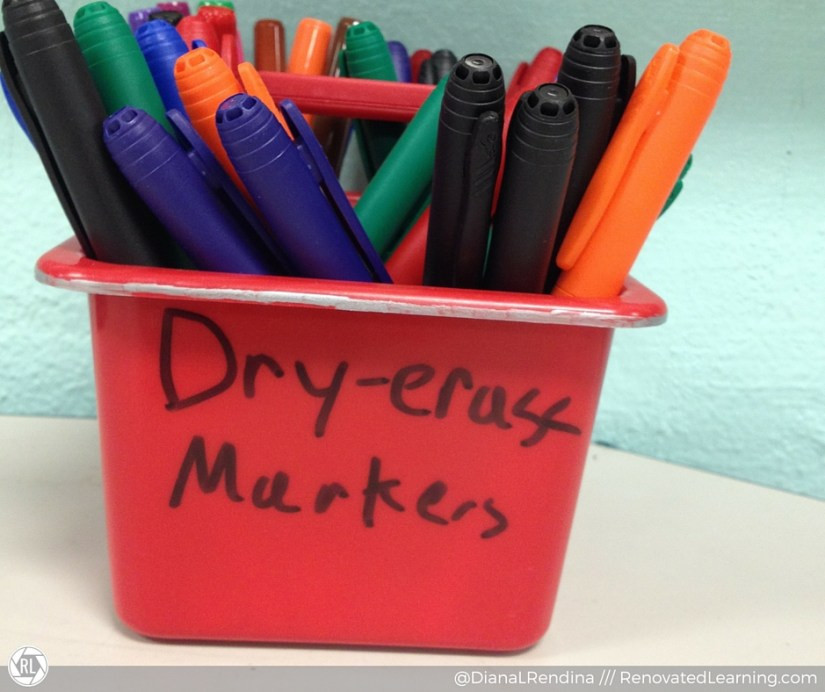 Keep a good stock of dry-erase markers handy