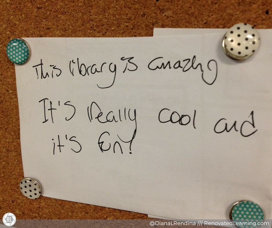 """Left by a student in our comment box """"This library is amazing. It's really cool and it's fun""""   RenovatedLearning.com"""