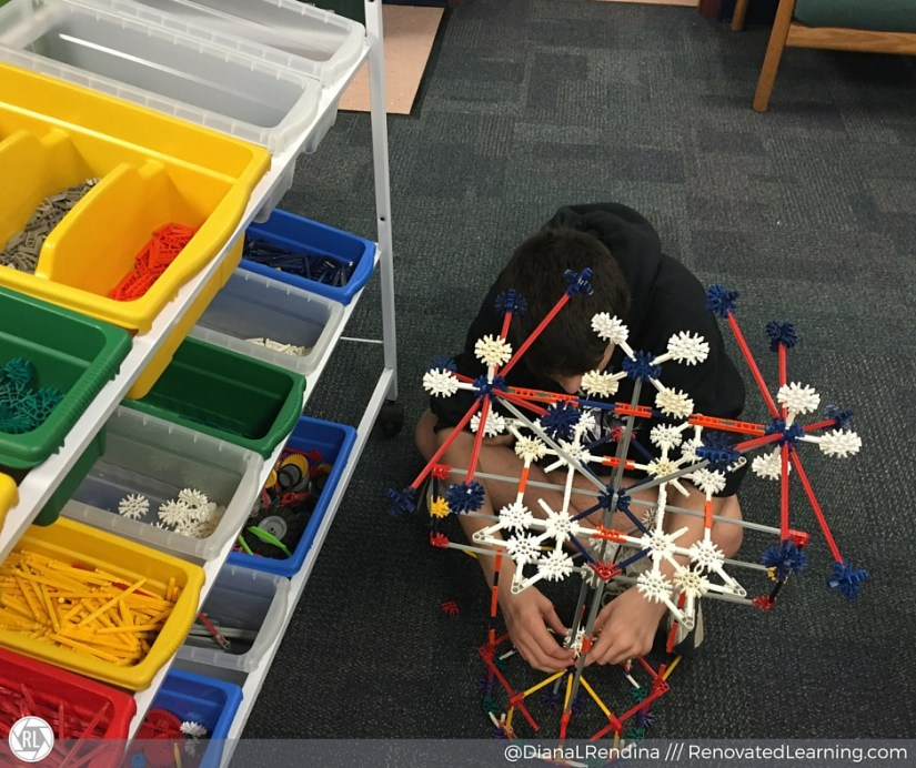 Student working on K'nex project | RenovatedLearning.com