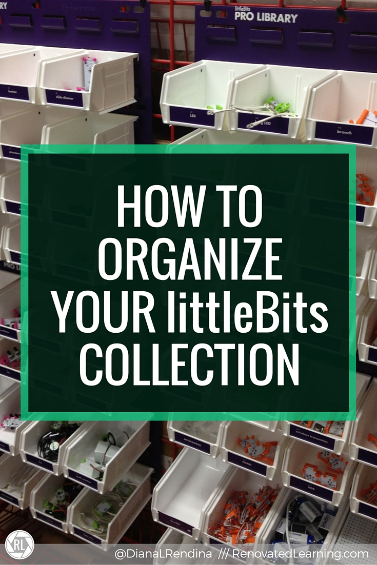 How to Organize Your littleBits collection   In this post, I detail my strategies and best practices for organizing a collection of littleBits. My school has a ProLibrary and 800 students, so finding an effective organization solution was critical.