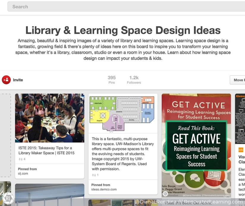 Learning Space Pinterest board