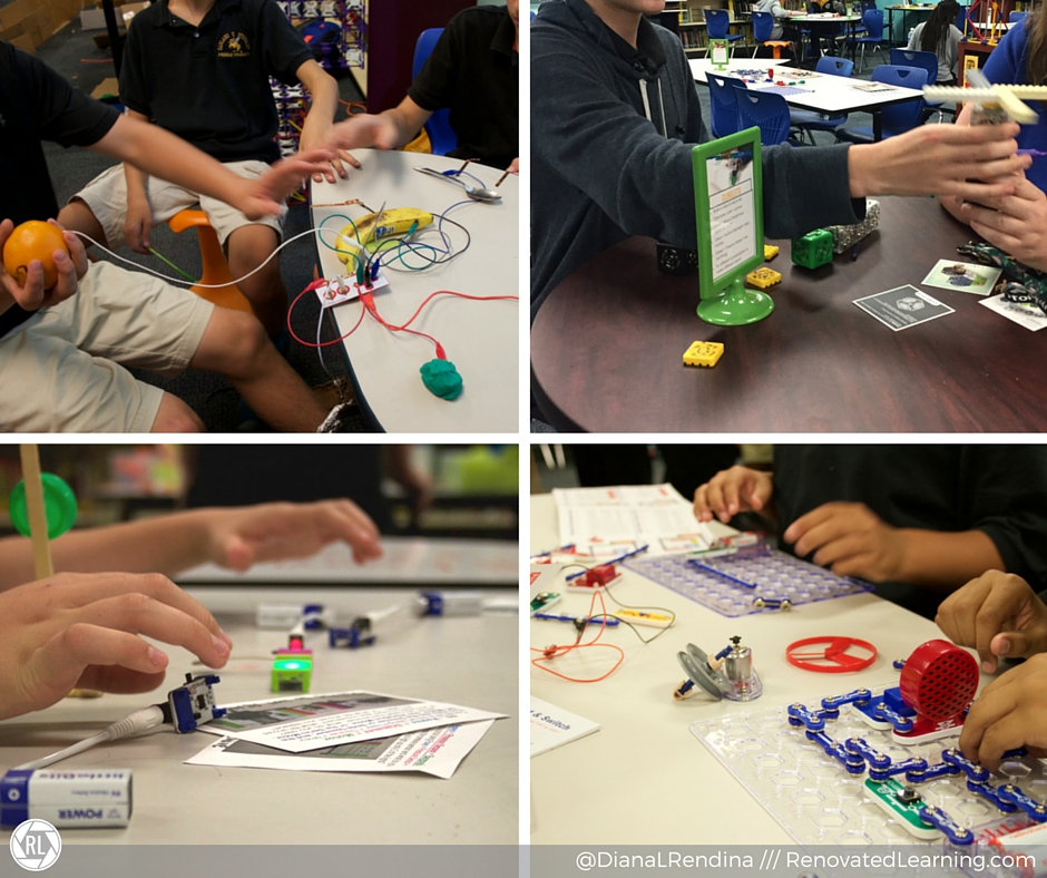 Maker Stations: MaKeyMaKey, Cubelets, littleBits, Snap Circuits