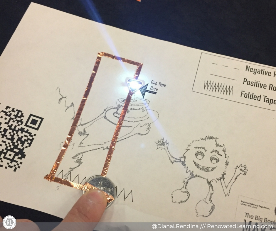 Paper circuit from the book, created at SLJ Summit