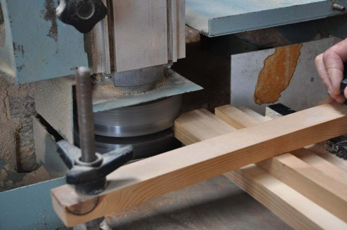 Willie creating tenons for a mortise and tenon joint
