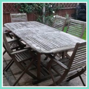 how to paint garden furniture with