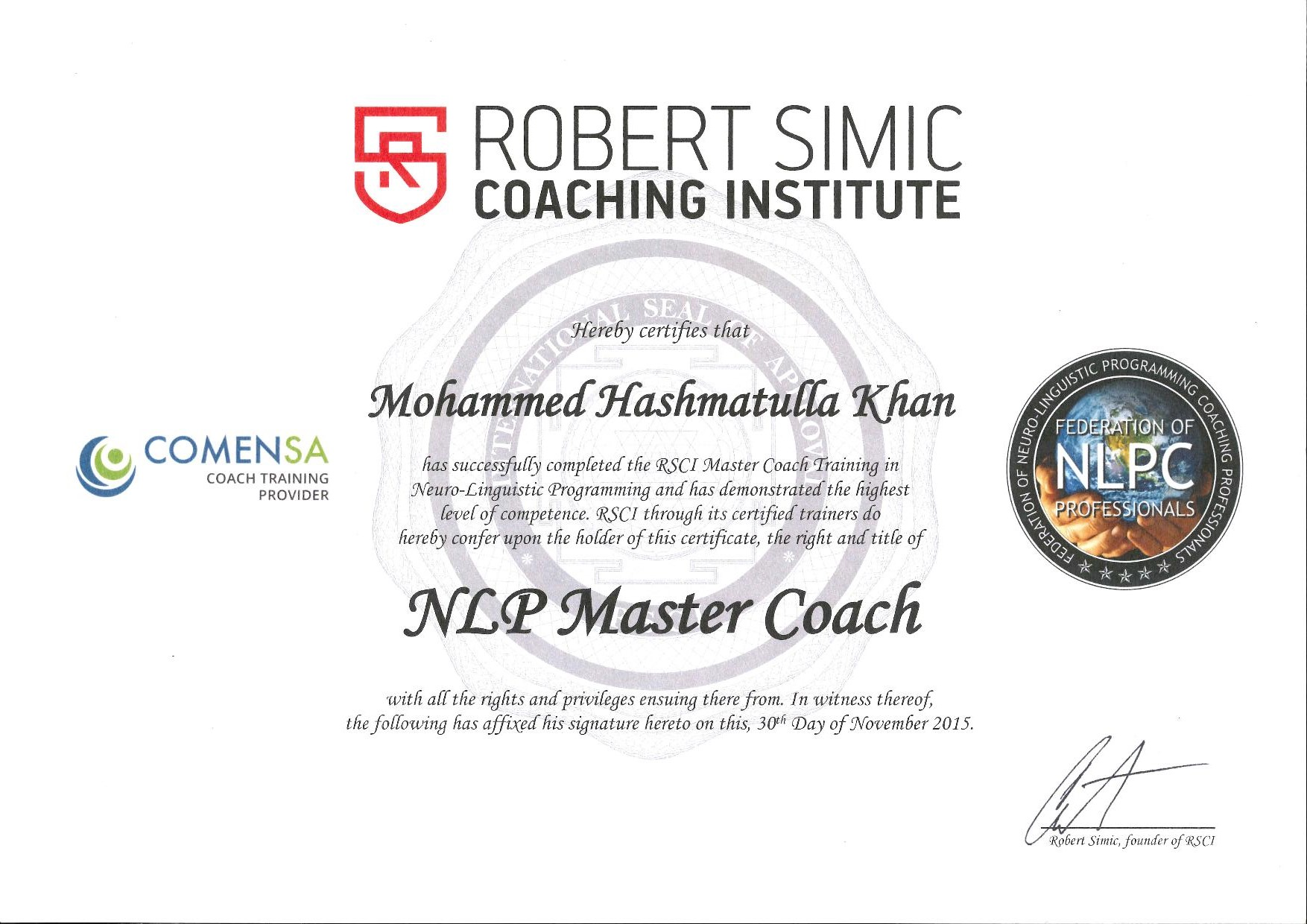 Certifications