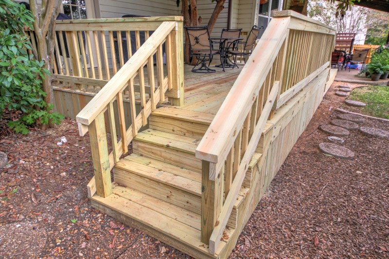 Deck Stairs And Railing Renovate Paint Design