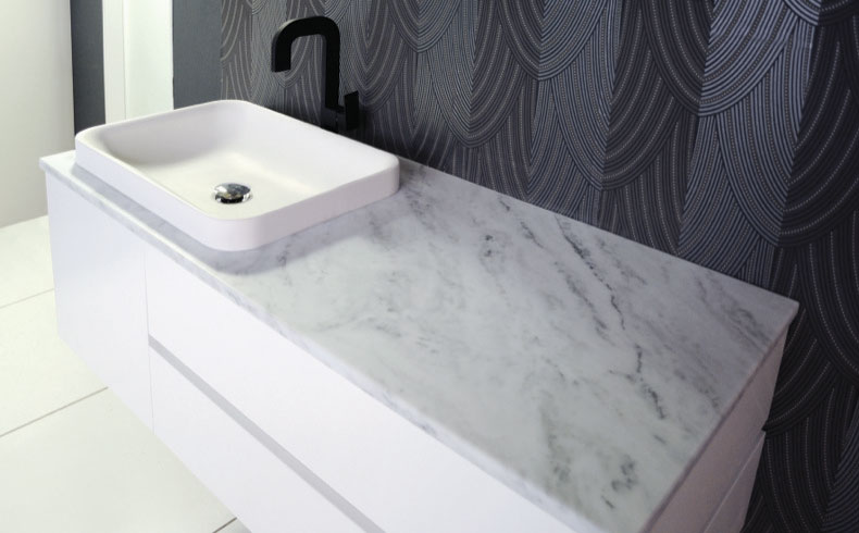 Cherry Pie solid surface  Bathroom Feature Editorial