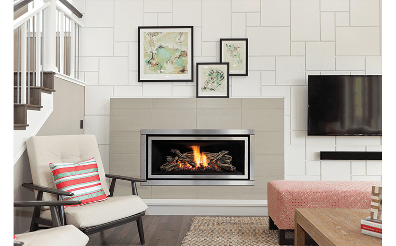 Heat Reflective Tiles Fireplace The Regency Greenfire Gf900 Gas Fireplace - Fireplaces