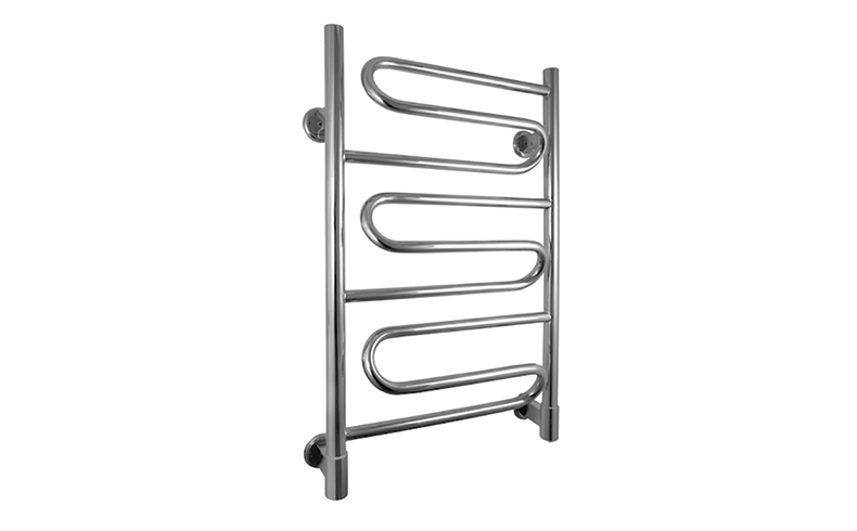European-style heated towel rails with plug-in and hard