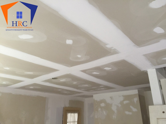 Exterior and interior paint, drywall hang and finish, custom layout