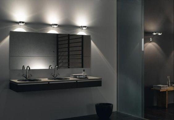 lumière LED autour de miroir