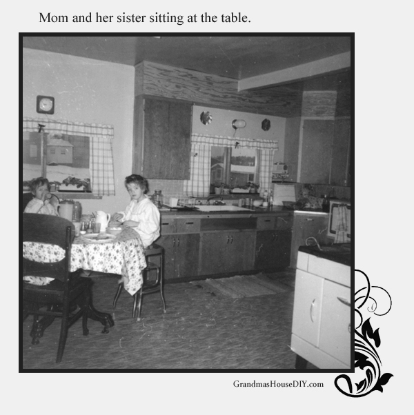 Remodeling an old farm house. A picture of my mom and her sister. Grandmashousediy.com