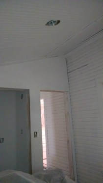 Painting the siding white in the office looks better then I had ever hoped for in our 100 year old farm house!