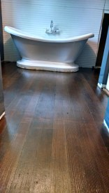 Here are the original cedar floors in our master suite stained with dark walnut by minwax and covered with poly.