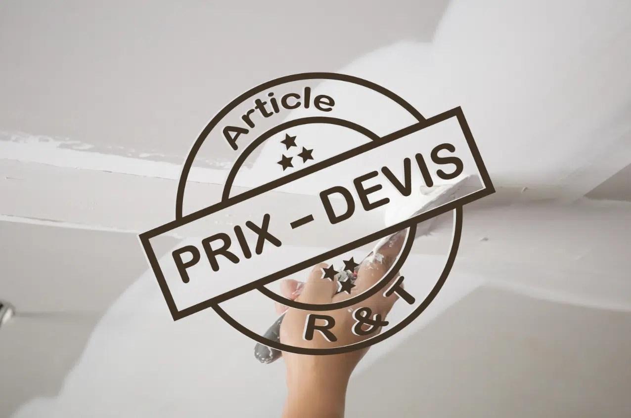 Prix De Pose Et Renovation De Plafond Et Exemple De Devis
