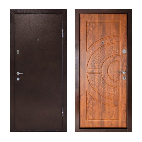 Входные двери фото мдф ПУ-08 дуб золотой