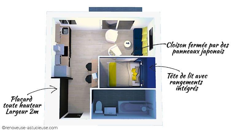 Mieux vaut transformer un studio en un charmant T1 bis, plutôt qu'en un T2 mal optimisé