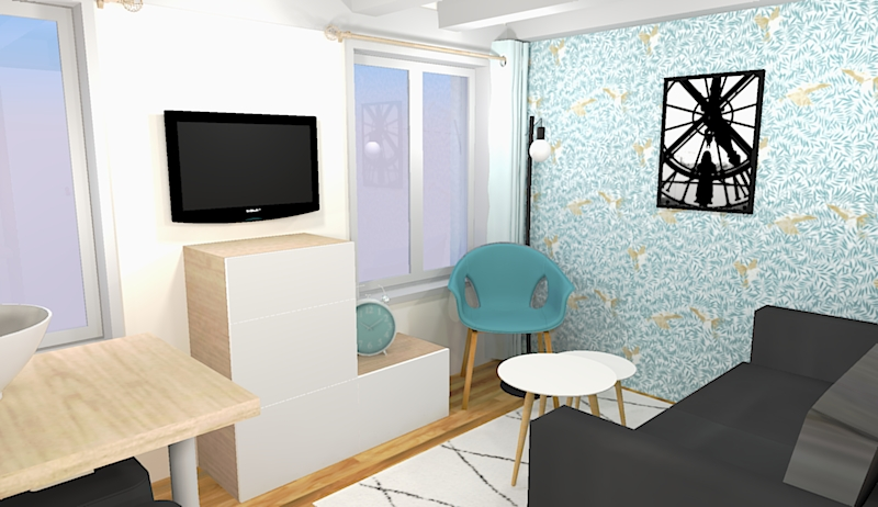 Des meubles à tiroirs permettent de ranger les vêtements pliés