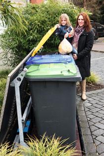 Mülltonnen verschwinden lassen