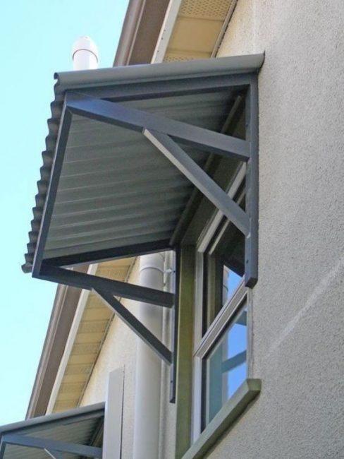 model jendela rumah dengan kanopi