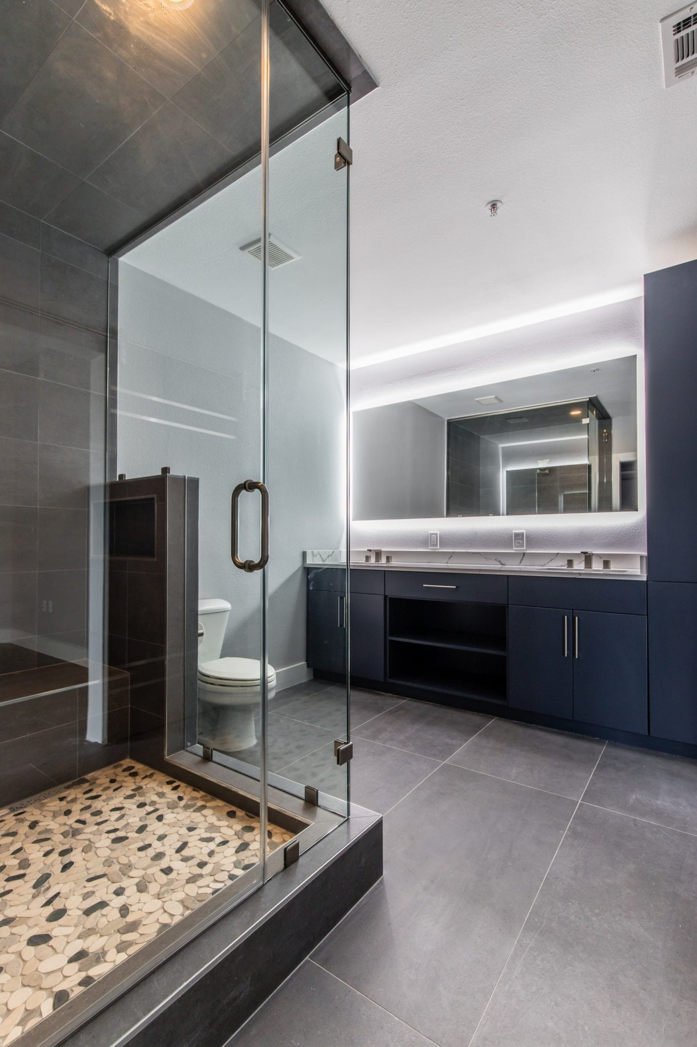 dallas urban condo master spa bathroom