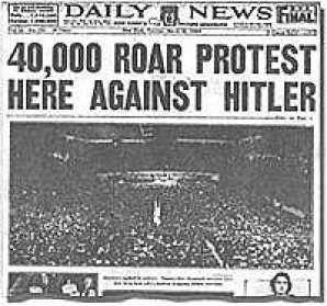 Image result for headline roar protest madison square garden