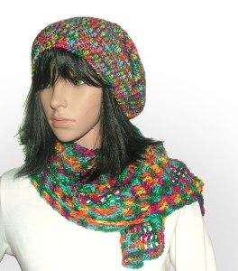4ply beanie scarf set