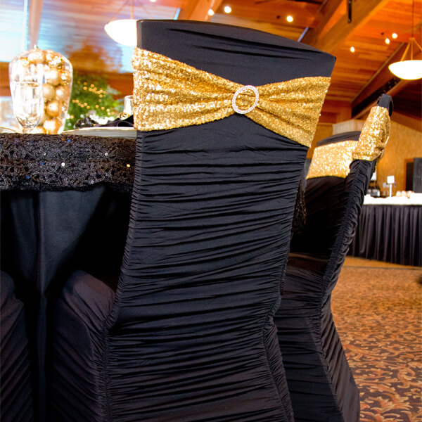 gold chair covers to rent leg protectors for hardwood floors black all inc spandex celebrations by located in sioux center wedding