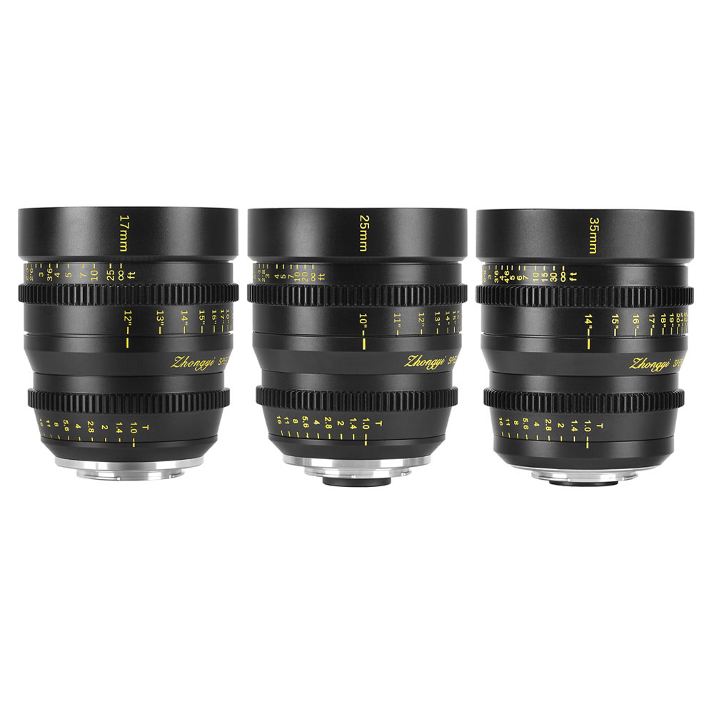 Mitakon Speedmaster Cinema Lens Set MFT Mount 17mm:25mm:35mm 2