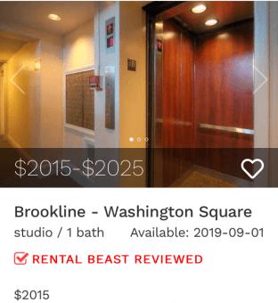 Rent in Brookline
