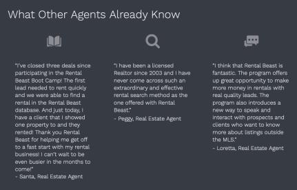 Real Estate Client Testimonials