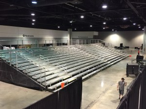 Bleacher Seating to Accommodate Large Crowds