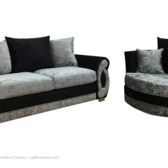 Black 3 Seater Sofa And Cuddle Chair Repair Birmingham Uk Crushed Velvet Sofas Pay Weekly With Rental Goods