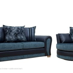 Black 3 Seater Sofa And Cuddle Chair Throw Covers For Fabric Sofas Pay Weekly With Rental Goods