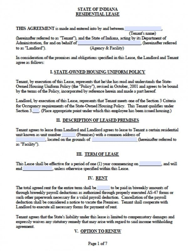 Sample Apartment Lease Agreement. Maryland Residential Tenancy Lease ...