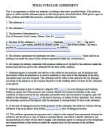 Free Texas Rental Lease Agreement Forms And Templates Pdf