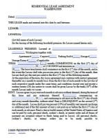 Free Washington Rental Lease Agreements Pdf
