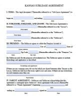 Free Kansas Rental Lease Agreement Forms And Templates Pdf