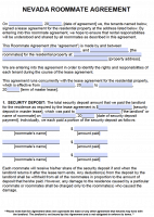 Free Nevada Rental Lease Agreement Forms And Templates Pdf
