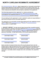 Free North Carolina Rental Lease Agreement Forms And