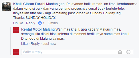 Testimoni Pelanggan Sunday Holiday