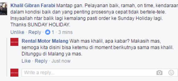 Testimoni Pelanggan Sunday Holiday