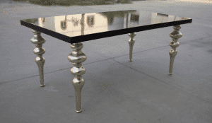 black Vlora dining table rental Atlanta